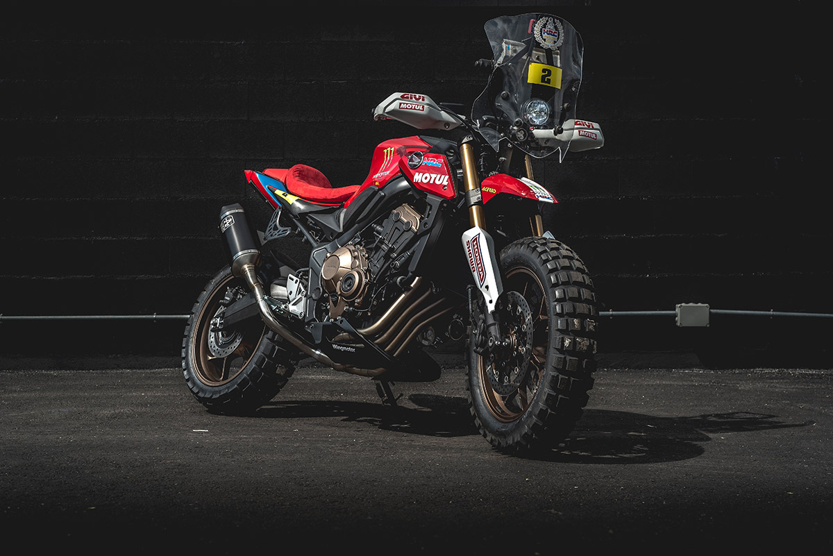 Ngắm bản độ Honda CB650R Rally hầm hố của Honda Wingmotor