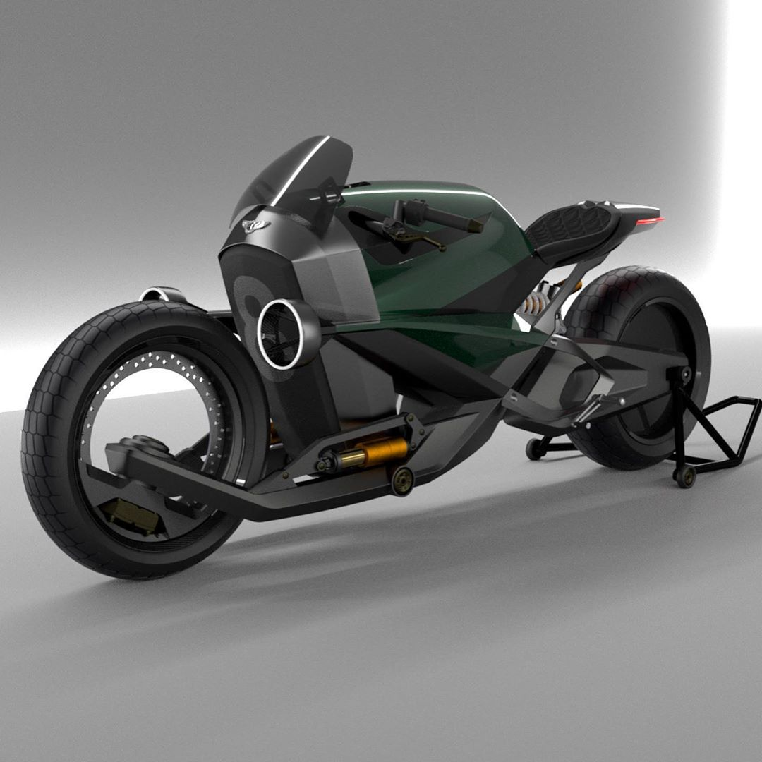 Cùng ngắm concept mô tô Bentley cực lạ mắt