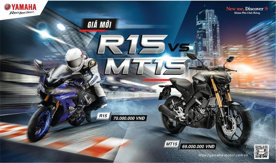 Giá Yamaha YZF-R15 và MT-15 giảm cực mạnh trong tháng 7/2020