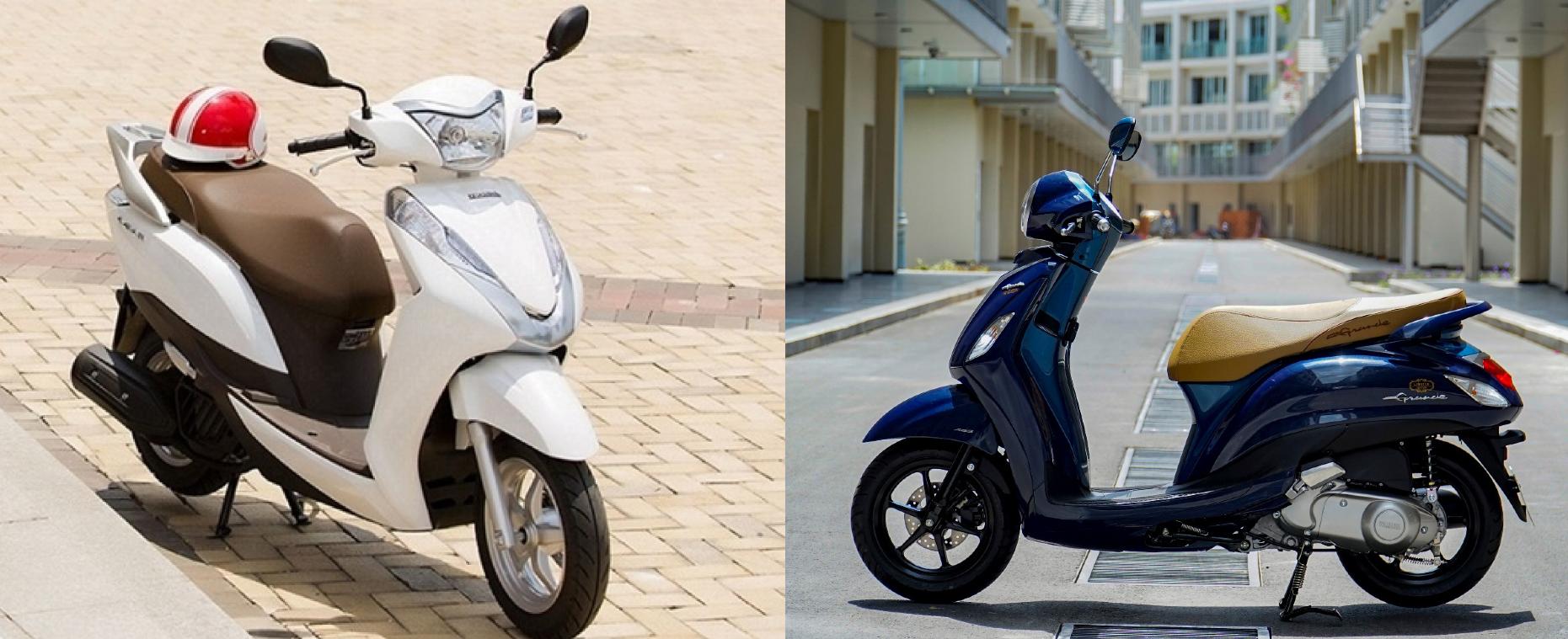 Xe tay ga 125cc cho nữ: Honda Lead hay Yamaha Grande