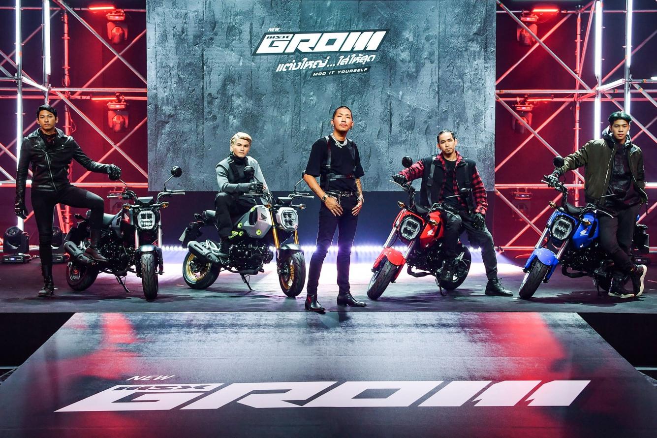 Honda  GROM (MSX 125) với khối động cơ mới vừa ra mắt tại Thái Lan