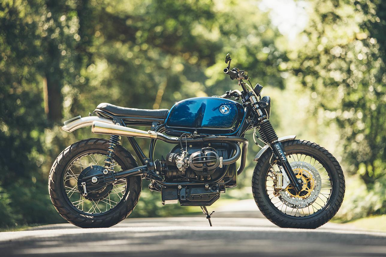 BMW R80 tạo bởi Side Rock Cycles - Một tuyệt tác Bruiser màu xanh biển